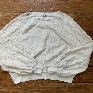 Off White Pill Knit Bubble Sleeve Sweatshirt